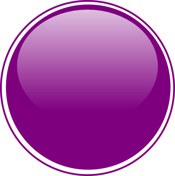 Glossy light button clip. Dot clipart purple