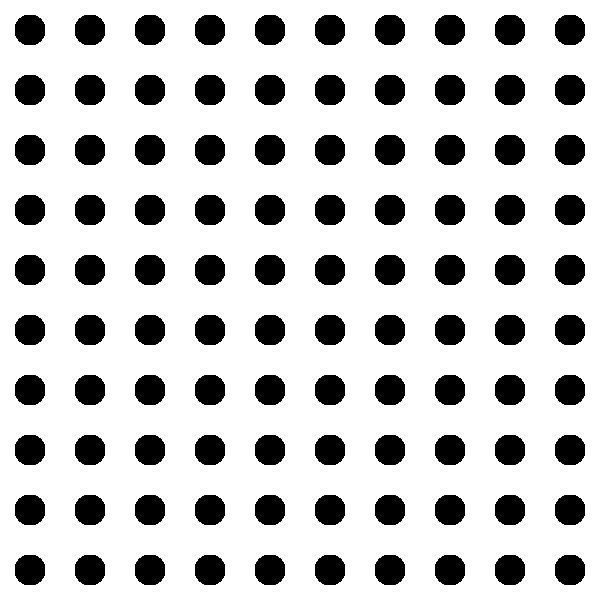 Square clipart square pattern. Dots grid clip art