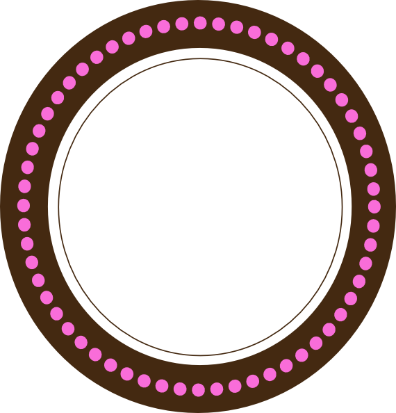 Dot clipart round. Tag choco pink clip