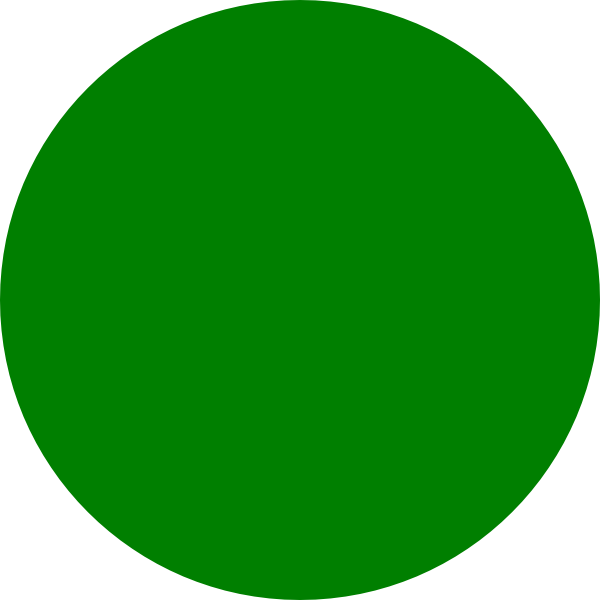 Green clip art at. Dot clipart round