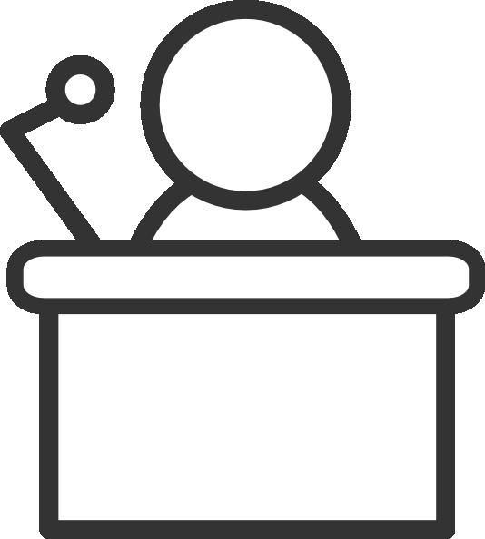 Microphone clipart podium. B w clip art