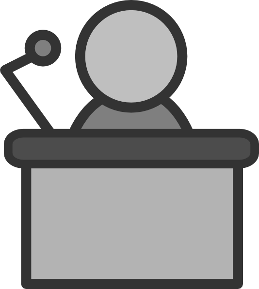 Speaker mic clip art. Microphone clipart podium