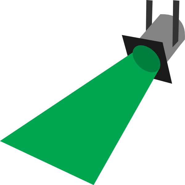 Flashlight clipart lightbeam. Spot light purple clip