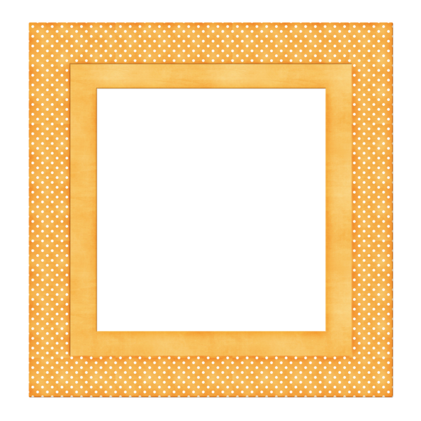Square clipart square frame. Golden color polka dot