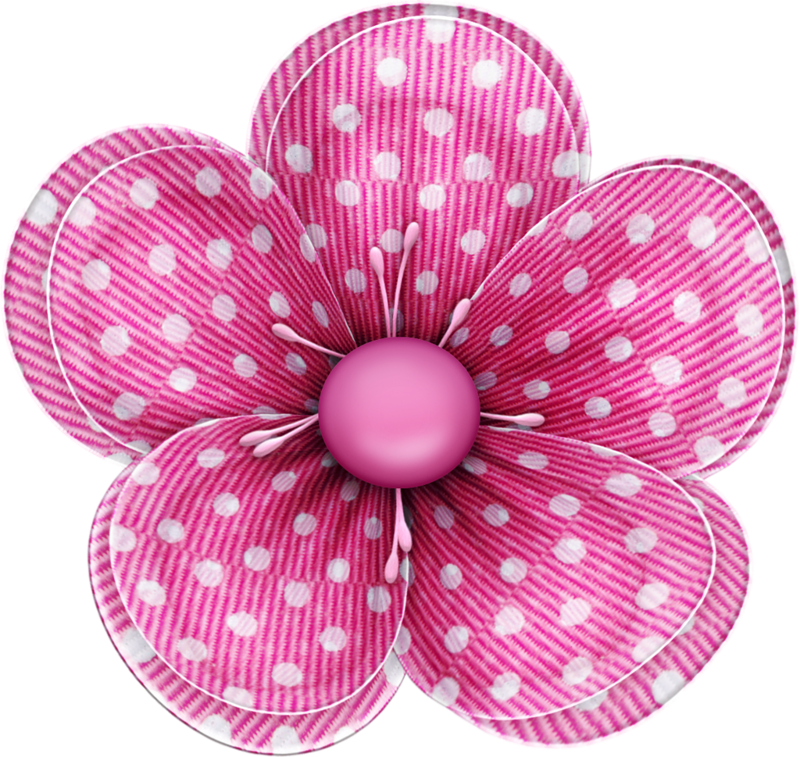 Blushbutter flower spots png. Floral clipart bow