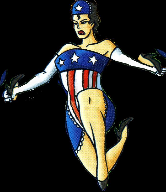 American maid the tick. Dot clipart superhero