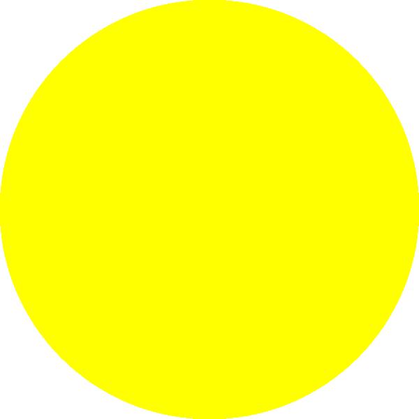 Focus clipart unsure. Yellow dot clip art