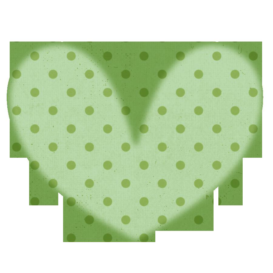 Free polka dot heart. Jar clipart green