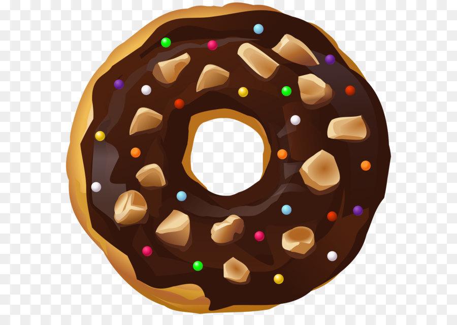 Maple bacon donut chocolate. Doughnut clipart