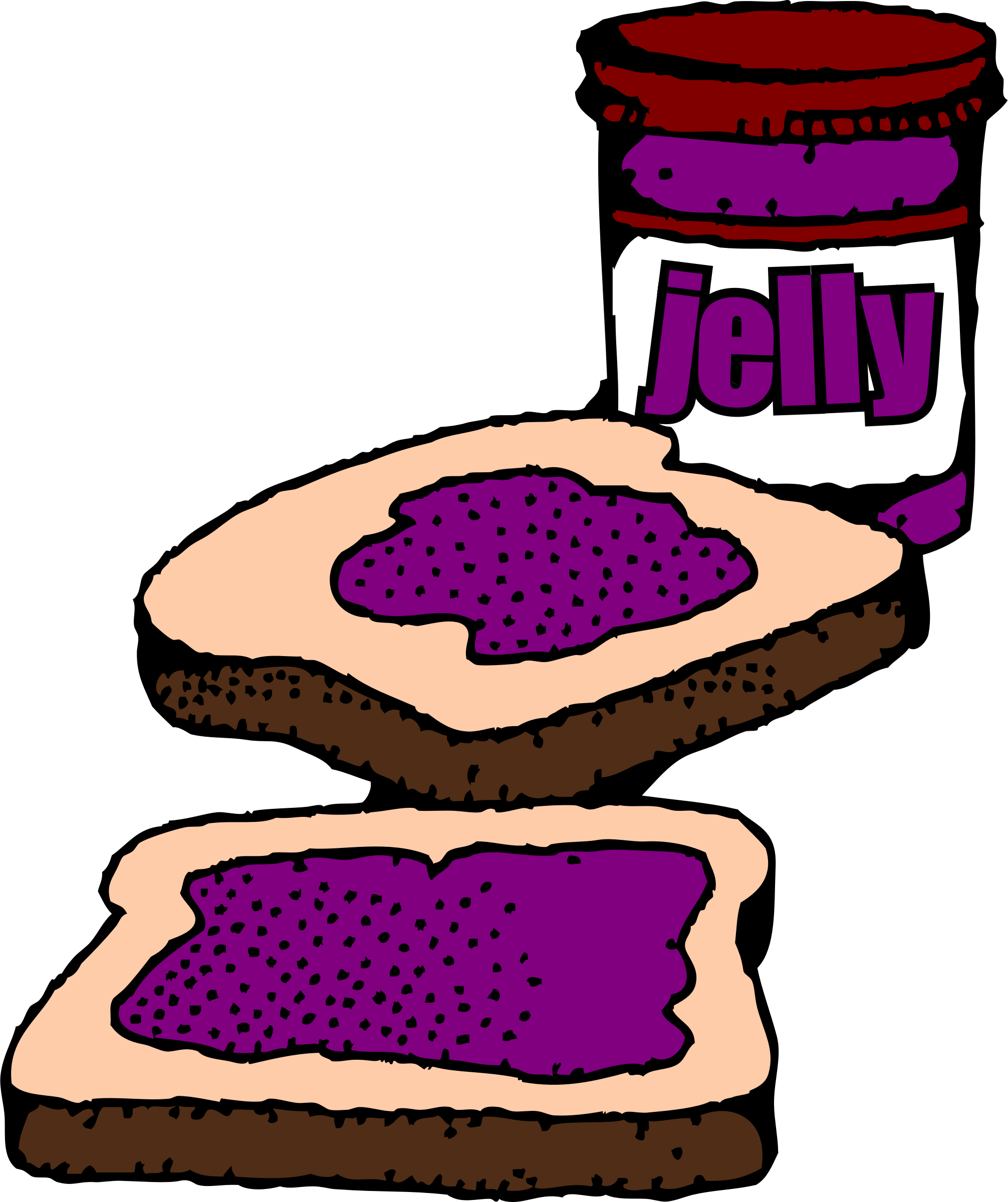 Jelly clipart cold food. Jellie cartoon red clip
