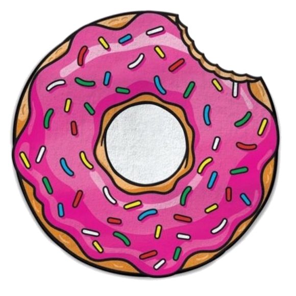 Donut x with amp. Doughnut clipart bite