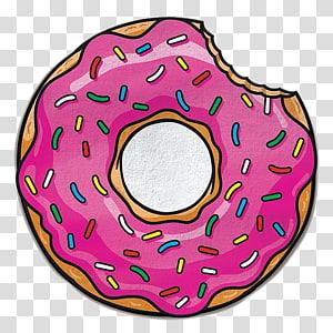 With sprinkles art donuts. Doughnut clipart bitten donut