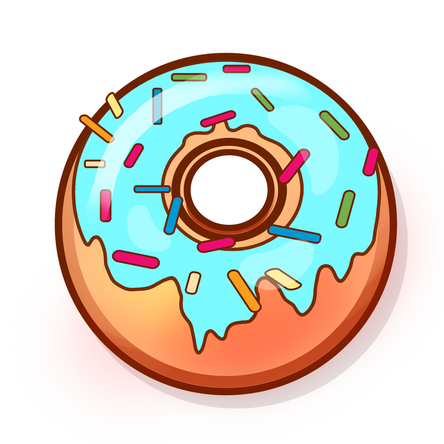 Doughnut clipart blue. Sugarboy donuts donutpng