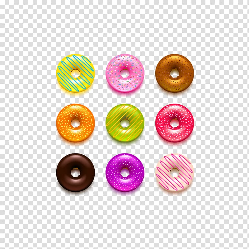 Doughnut clipart colorful. Glaze colored donut transparent