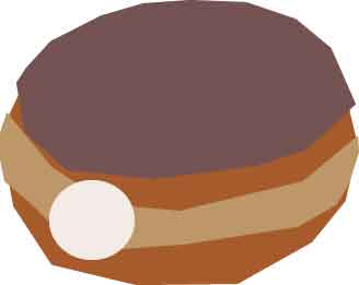By jandersonart on deviantart. Doughnut clipart cream filled donut