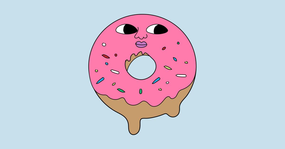 Doughnut clipart donut man. Curious by colddistrict