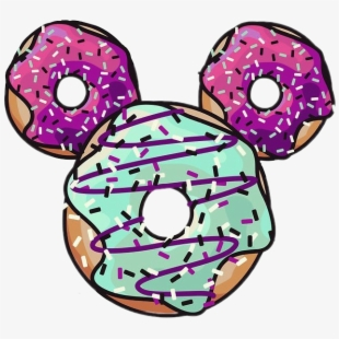 Mickey blue sticker png. Doughnut clipart donut tumblr