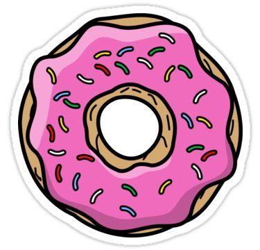 Doughnut clipart donut tumblr. Pink sticker by thefutureisnow