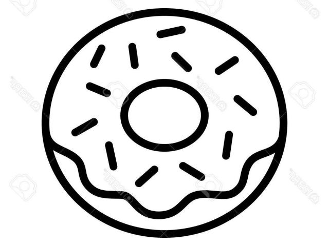 Free download clip art. Doughnut clipart drawn