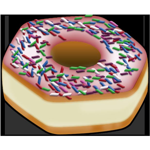 Doughnut clipart emoji. Send the right message