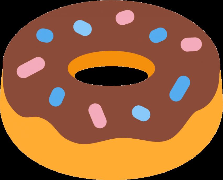 Doughnut clipart emoji. Emojipedia donuts meaning symbol