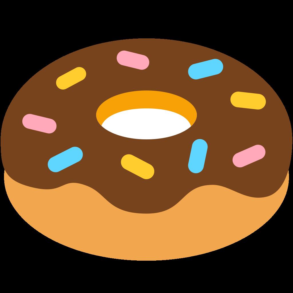 File fxemoji u f. Doughnut clipart emoji