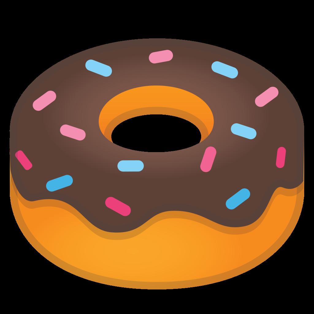 Icon noto emoji drink. Doughnut clipart food