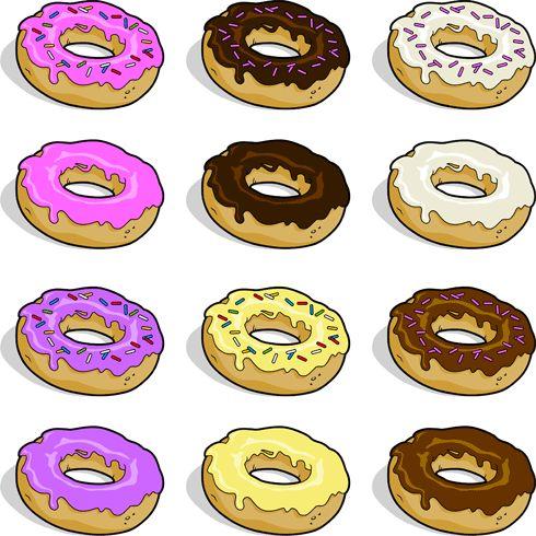 Donut clip art drink. Doughnut clipart food