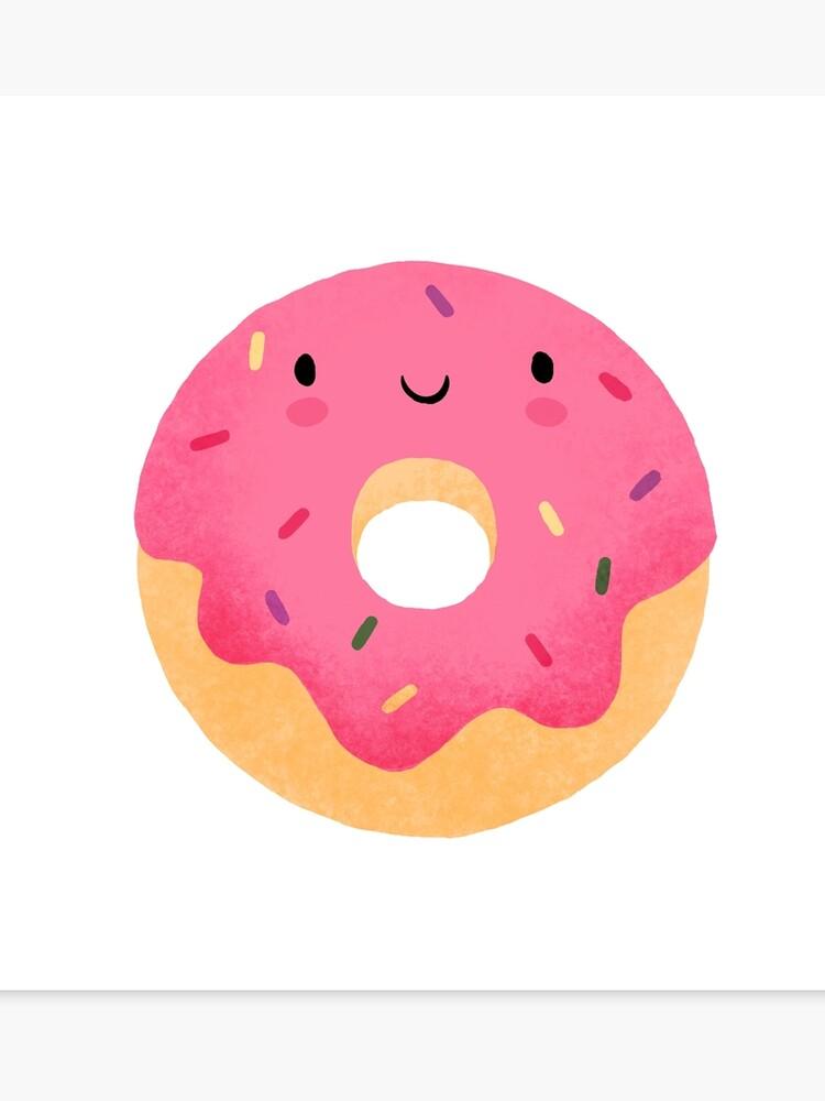 Canvas print . Doughnut clipart happy donut