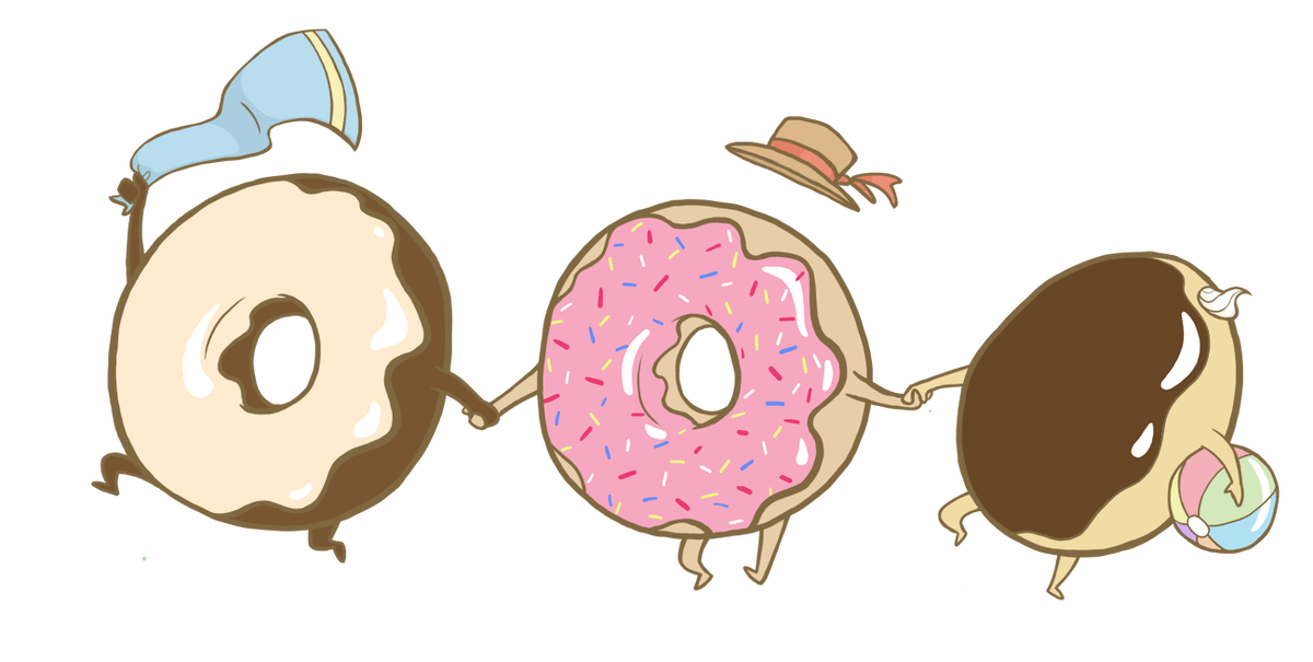 Summer time feel art. Doughnut clipart happy donut