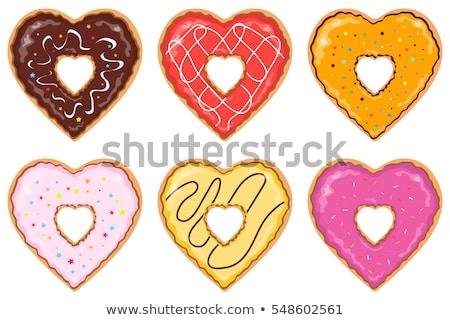 Doughnut clipart heart. Clip art donut arts