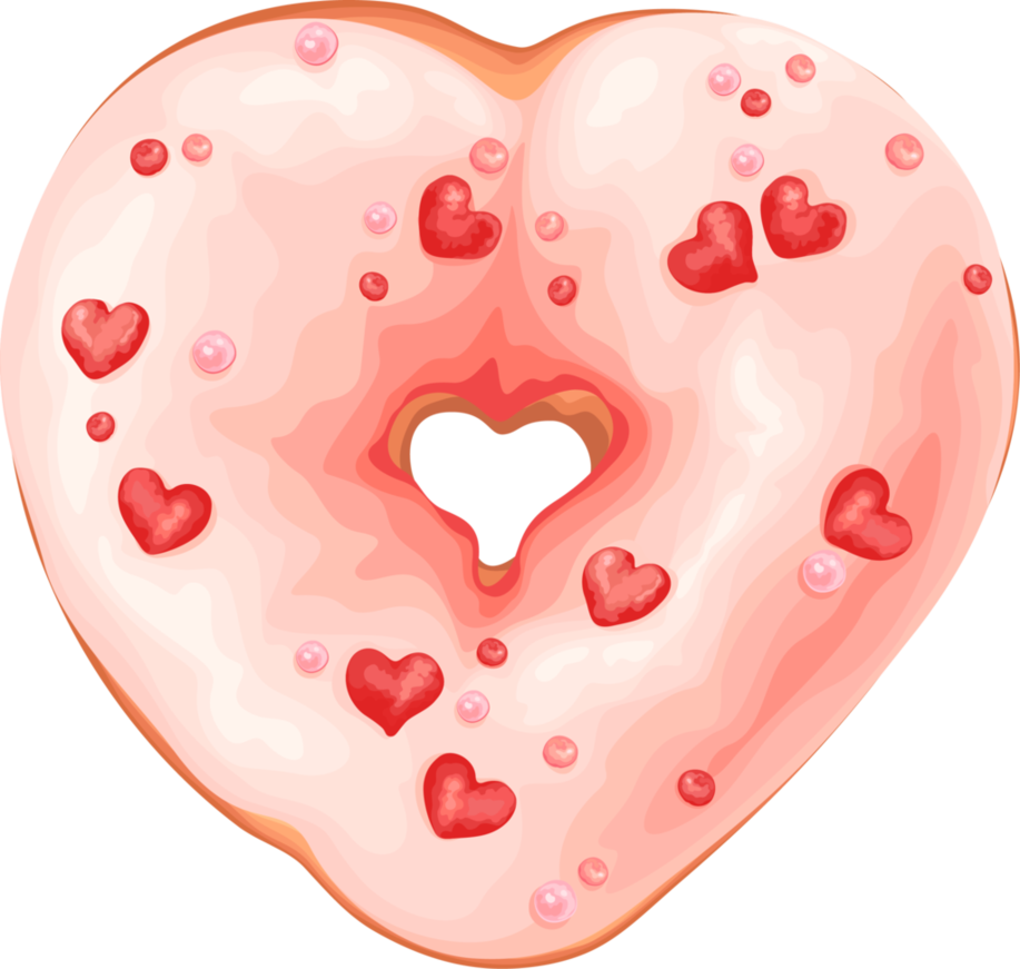 By rosemoji on deviantart. Doughnut clipart heart