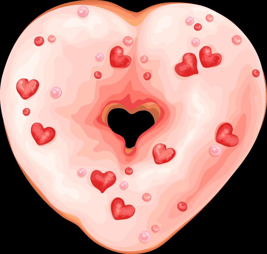 Doughnut clipart heart. By rosemoji on deviantart