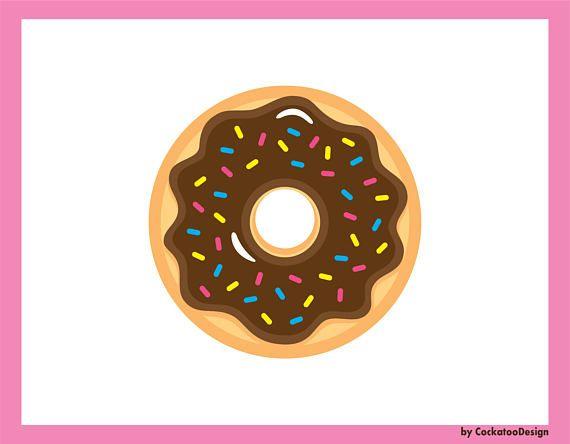 Donut clip art donuts. Doughnut clipart kawaii
