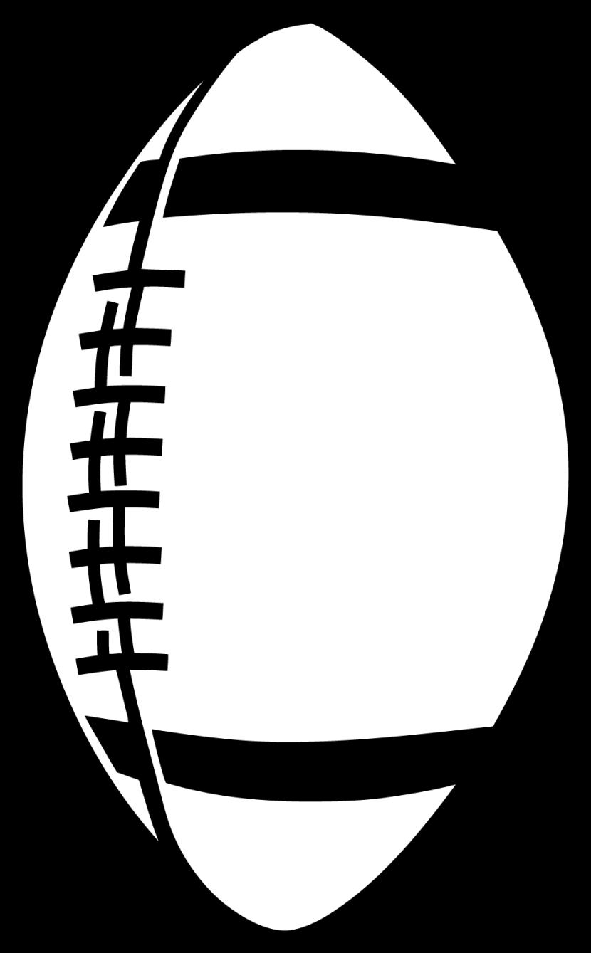 Doughnut clipart outline. Football black and white