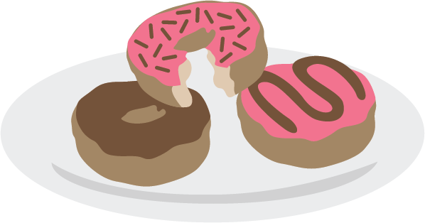 Of donuts svg files. Doughnut clipart plate donut