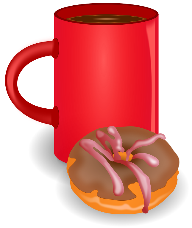 File coffee doghnout svg. Doughnut clipart red