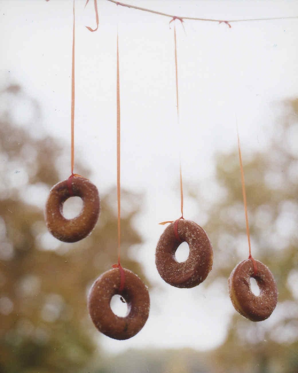 Doughnuts on a string. Doughnut clipart small donut