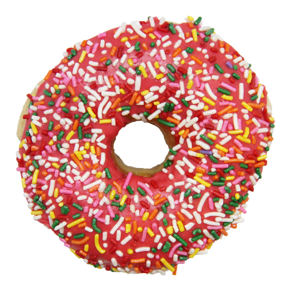 Strawberries clipart frosted donut. Menu slodoco donuts strawberry