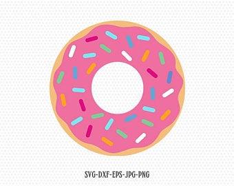 Donut etsy . Doughnut clipart svg