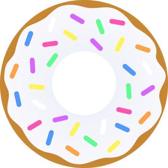 With sprinkles free clip. Doughnut clipart vanilla donut