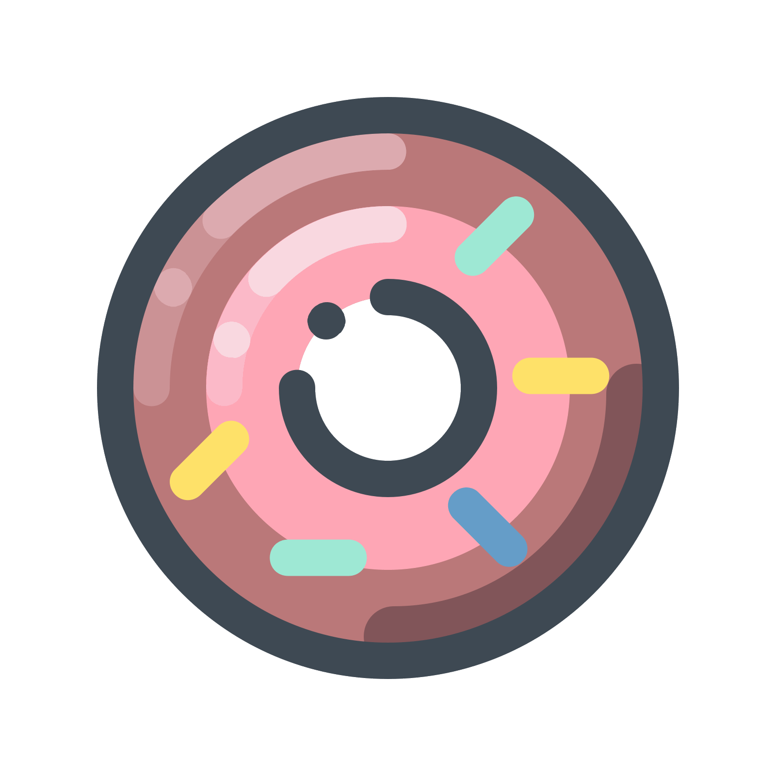 Doughnut clipart vector. Cherry donut icon free