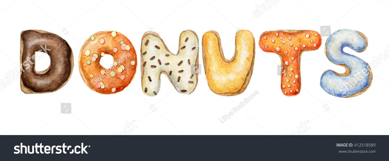 Donut . Doughnut clipart word