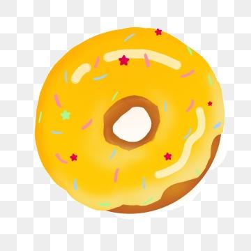 Doughnut clipart yellow. Donut png vector psd