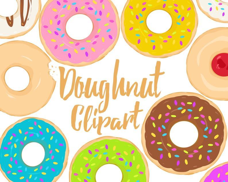 doughnut clipart yellow