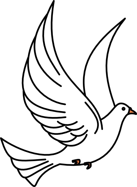 Doves clipart in flight. Flying dove clip art