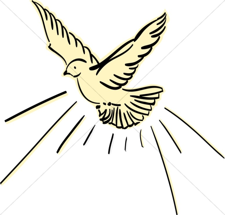 Bird clipart dove. Yellow flying