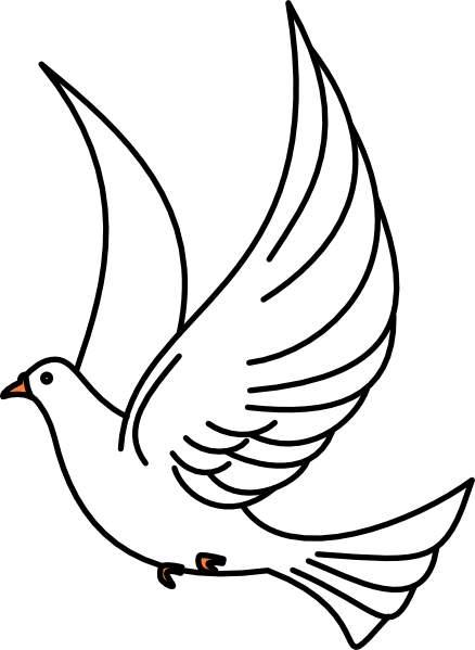 Dove clipart black and white. Free download clip art