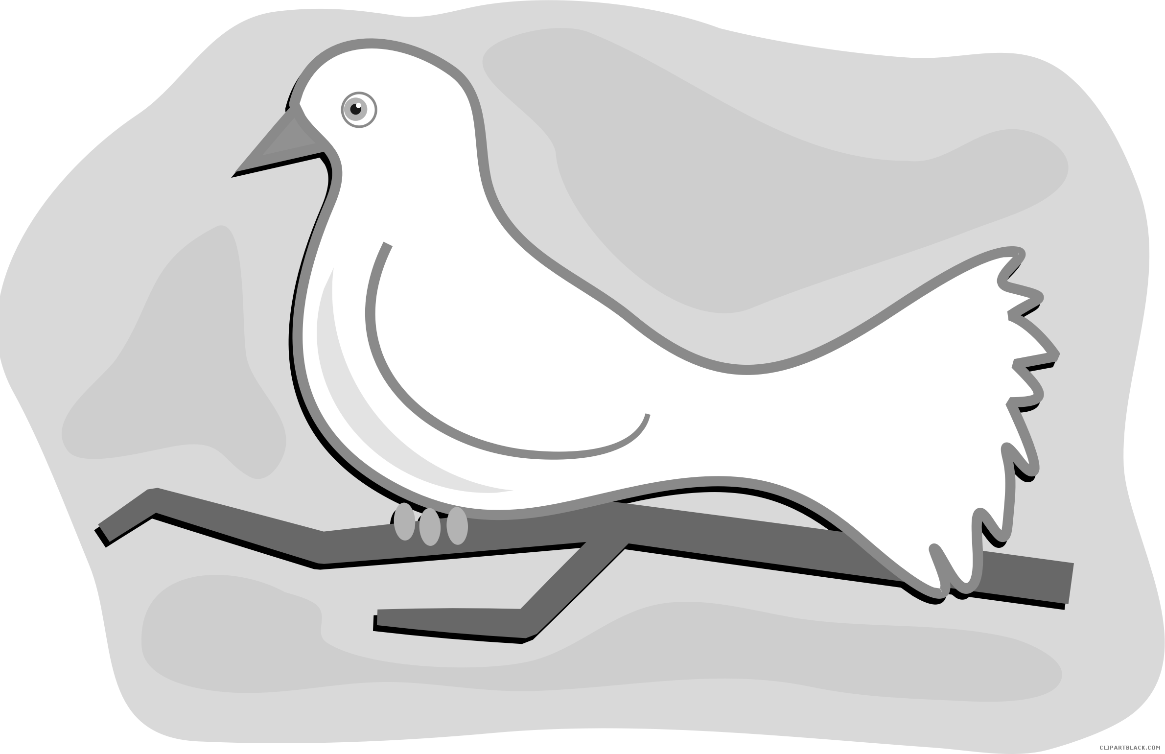 Dove clipart black and white. Clipartblack com animal free