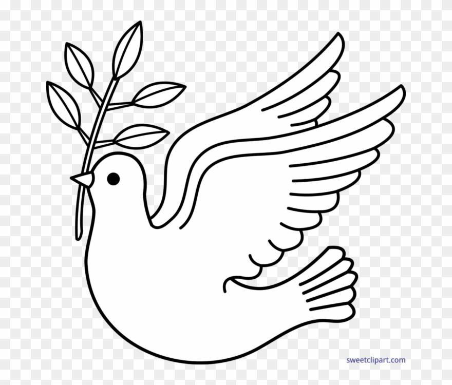 Peace peanuts clip art. Dove clipart black and white